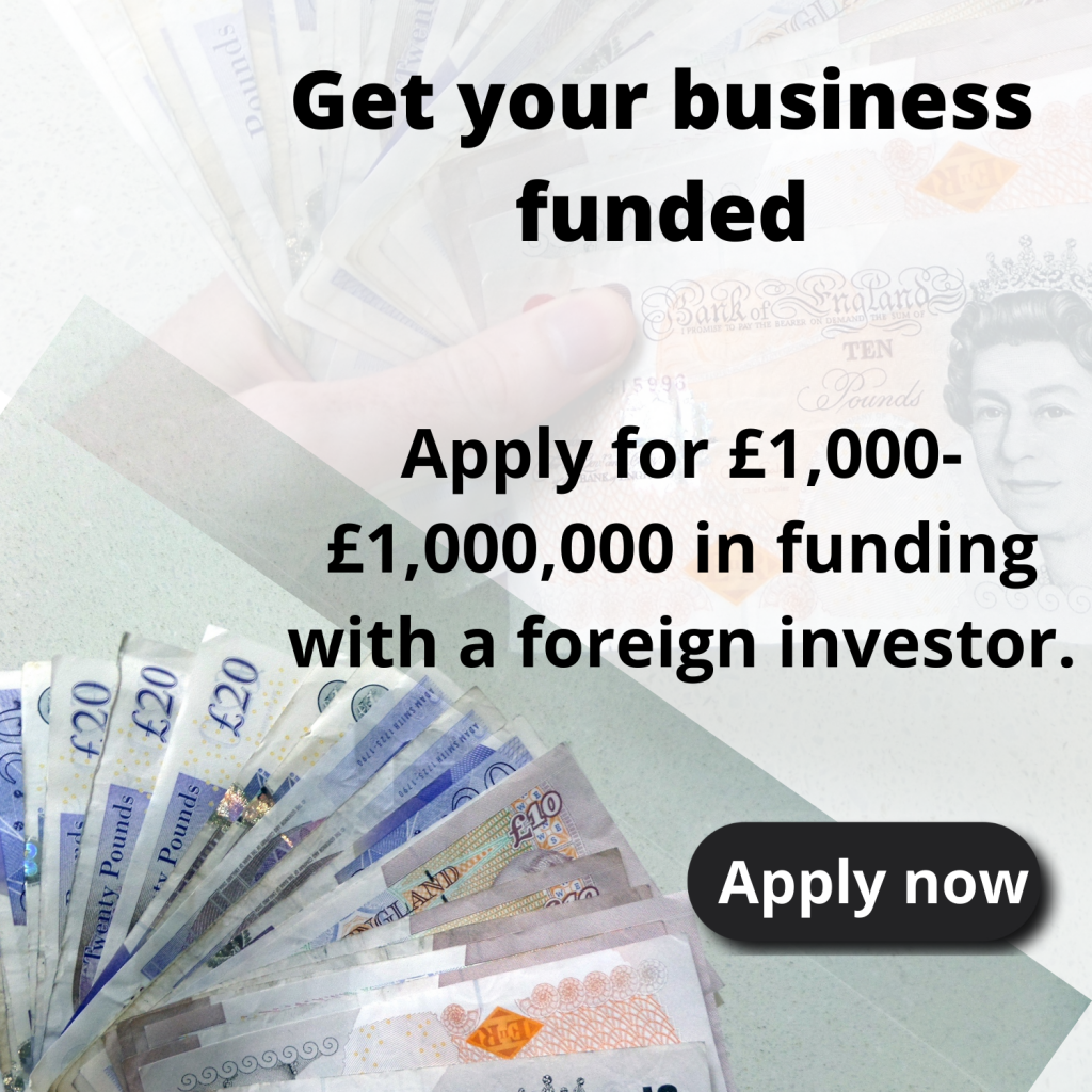 Apply for foreign investment as a Nigerian. Find a foreign investor for your business.
